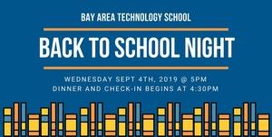 Back to School Night is Sept 4th!