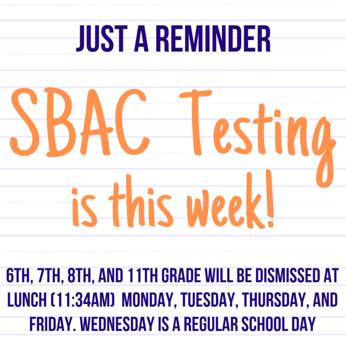 SBAC Starts Today