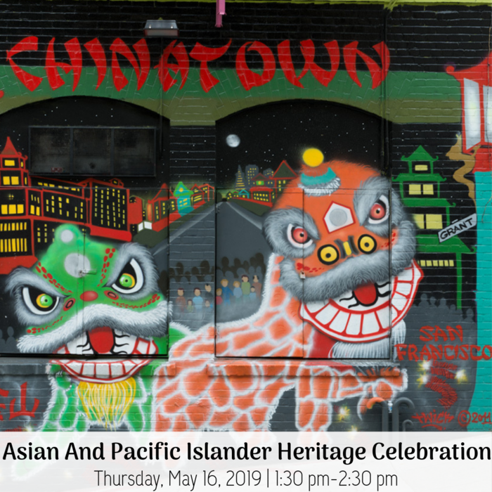 Asian Pacific heritage Celebration Thursday